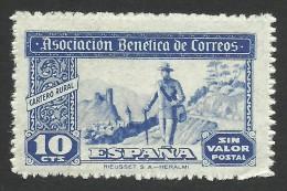 Spain, Charity, 10 C. 1944, MH - Bienfaisance