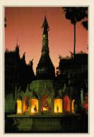 BIRMANIA-RANGOON:   LA  PAGODA CON GLI OTTO BUDDHA         (NUOVA CON DESCRIZIONE DEL SITO SUL RETRO) - Myanmar (Burma)