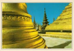 BIRMANIA-RANGOON:   LA  PAGODA DI  SHWEDAGN         (NUOVA CON DESCRIZIONE DEL SITO SUL RETRO) - Myanmar (Burma)