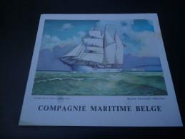 CB7  Menu Du Paquebot Elisabethville De La Compagnie Maritime Belge - Voyage 1961 - Boats