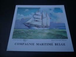 CB7  Menu Du Paquebot Elisabethville De La Compagnie Maritime Belge - Voyage Matadi 1961 - Boats