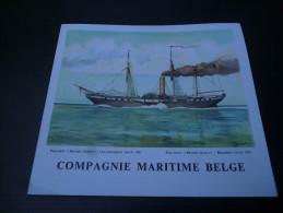 CB7  Menu Du Paquebot Albertville De La Compagnie Maritime Belge - Voyage 1965 - British Queen - Boats