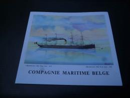 CB7  Menu Du Paquebot Albertville De La Compagnie Maritime Belge - Voyage 1965 - Red Star Line - Boats