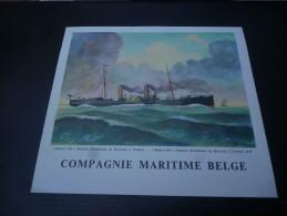 CB7  Menu Du Paquebot Albertville De La Compagnie Maritime Belge - Voyage 1963 Diner De L'Equateur Baron Osy - Boats