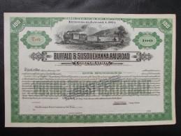 USA - Buffalo & Susquehanna Rail Road Corporation. Titre De 100 Actions - Chemin De Fer & Tramway