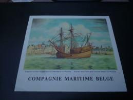 CB7  Menu Du Paquebot Albertville De La Compagnie Maritime Belge - Voyage 1963 Diner De L'Equateur Caravelle - Boats