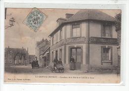 LA CROIX SAINT LEUFROY - Carrefour De La Mairie Et Café De La Gare - Très Bon état - Frankreich