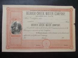 USA - Beaver Creek Water Company - Eau