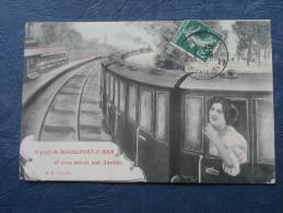 Je Pars De Rochefort Sur Mer - Femme Dans Un Train - Colorisée - Ed. GP - Photo Legrand - Circulée - L222 - Rochefort