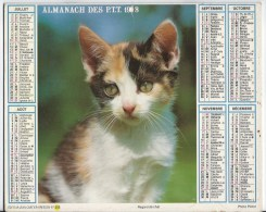 Calendrier Des Postes 1988 69 Rhone - Tamaño Grande : 1981-90
