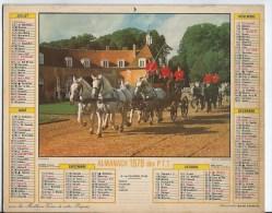 Calendrier Des Postes 1979 71 Saone Et Loire - Calendars