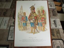 Uniformes ) Fanfaro/ Planche N°24 L´histoire Des Hussards Prussiens 1721/1807 De Kurt Geiss Et August-wilhelm Stragand - Uniformes