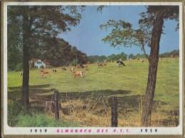 Calendrier Des Postes 1959 71 Saone Et Loire - Calendars