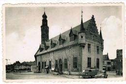 Herentals, Stadhuis, Grote Markt, VW Kever, Coccinelle, Käfer, VW Transporter T1 (pk21892) - Herentals