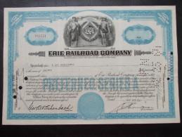 USA - Erie Rail Road Company - Chemin De Fer & Tramway