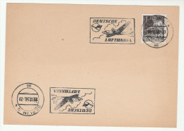 1956 East Germany LUFTHANSA DEUTSCHE Illus AIRCRAFT SLOGAN COVER Card Stamps Ddr Aviation Mining Flight - [6] Democratic Republic