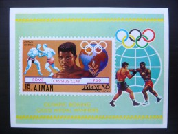 BOXE  Cassius Clay - JO Rome 1960 - Bloc MNH Neuf ** IMP - Ajman - Verano 1960: Roma