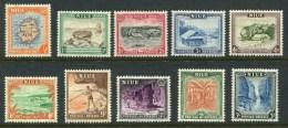 1950 Niue - Definitives 10v.,Views, Map, Alofi Bay, Arch, Bay, Cave, Bananas Mi 75/84 SG 113/122 Value 17 Euro MLH - Niue