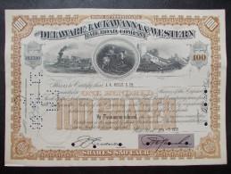 USA - The Delaware, Lackawanna & Western Rail Road Company - Chemin De Fer & Tramway