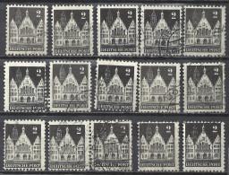 Deutschland Alliierte Besetzung Amerikanische Und Britische Zone 1948 Michel 73 Wg, 15x O Gestempelt, Sc 634 - Bizone