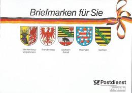 BRD (BR.Deutschland) GH1 Geschenkheftchen (kompl.Ausg.) Postfrisch 1991 Therese Giehse - [7] République Fédérale