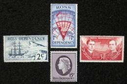 1967 Ross Dependency -  Def. 4v.,maps, Ships, Queen, Explorers, Scott,Yv.4/8 MLH - Dipendenza Di Ross (Nuova Zelanda)