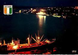 ABIDJAN     H7   Vue Sur Le Port , La Nuit - Costa D'Avorio
