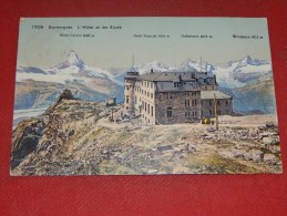 ZERMATT  -  Gornergrat - L´ Hôtel Et Les Alpes  -   1914      - ( 2 Scans ) - VS Valais