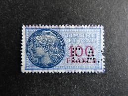 FRANCE Timbre Fiscal 100 Fr E.A.S. 8 Indice 8  Perforé Perforés Perfins Perfin  Tres Bien ! - France