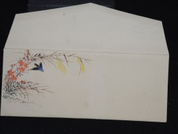 JAPON - Enveloppe Peinte à La Main - Style Valentine-  à Voir - Lot P9667 - Covers & Documents