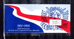 """(Prix à La Poste : 5.33 €)Emission Commune De 1988 SOUS BLISTER """" FRANCE / RFA : DE GAULLE """". 4 X N°YT 2501 + RFA . - De Gaulle (General)"""