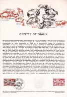""""""" GROTTE DE NIAUX """" Sur Document Philatélique Officiel De 1979.  N° YT 2043. Parfait état. DPO - Prehistory"""