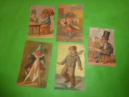 Chromo Caricature Grosse Tete-capot Sur Table-cordonnier-joueur De Dames-hue Cocotte Bognard Paris - Non Classés