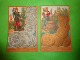Chromo France Monnaie De Cuivre -monnaie D'argent Valeur Anglaise - Non Classés