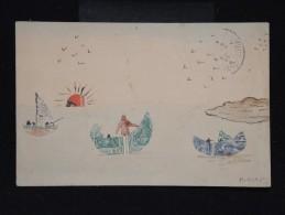 CARTE POSTALE - Collage De Découpes De Timbres Sur Cp  - à Voir - Lot P9676 - Timbres (représentations)