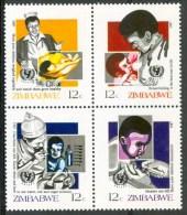 1987 Zimbabwe Sanità Health Santè Set MNH** F32 - Zimbabwe (1980-...)