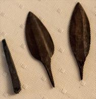 Pointes De Flèches Africaines En Cuivre - Archéologie