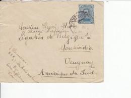 Nr 141, Op Brief Naar Henri Ketels, Montevideo, Uruguay (07292) - Guerre 14-18