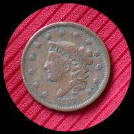 1 Cent Etats-Unis 1837 - 1816-1839: Coronet Head (Testa Coronata