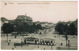 Antwerpen, Anvers, Athenée Royal Et La Place De La Commune, Tram, Tramway (pk21924) - Antwerpen