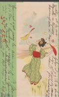 CPA:Kirchner:Geisha:Femme Aux Papillons - Kirchner, Raphael