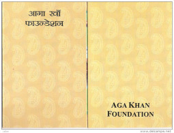 Aga Khan Foundation, Specially Designed Folder With MS - India