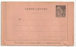 Entier Postal - Carte-Lettre 25c Alphée Dubois Neuve - Alphee Dubois