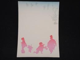 JAPON - Document Peint à La Main Et Pochoir - Papier à Lettre -  à Voir - Lot P9693 - Covers & Documents