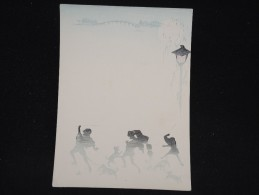 JAPON - Document Peint à La Main Et Pochoir - Papier à Lettre -  à Voir - Lot P9694 - Covers & Documents
