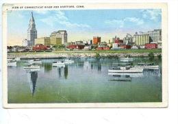 Etats Unis : View Of Connecticut River And Hartford (Conn) - Hartford