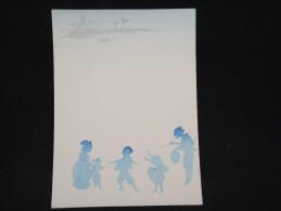 JAPON - Document Peint à La Main Et Pochoir - Papier à Lettre -  à Voir - Lot P9696 - Covers & Documents