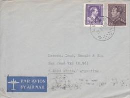 Nr 434B En 693, Op Brief Van Eeklo Naar Buenos Aires, Argentinië (07307) - 1936-51 Poortman