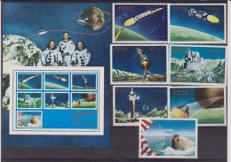 SOMALIA  SPAZIO - SPACE: MOONLANDING 7 V. + SHEET MNH - Space