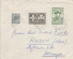 België, Baden Powell, Nr 1022/1023, Op Brief Van Bourlers Naar Hilden (07309) - Scouting